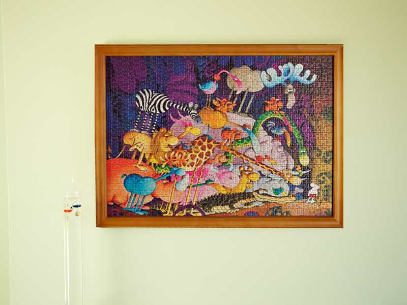 Jigframe Light Wood For Medium Size 1000 Piece Puzzles